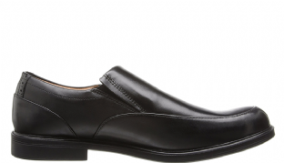 Clarks Mens Gabson Step Black Leather Shoes